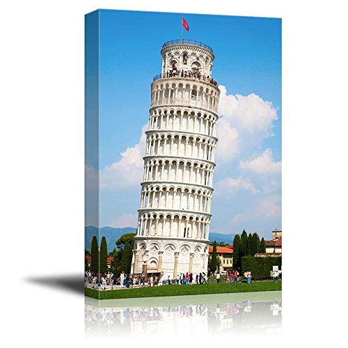 """Canvas Wall Art - Famous Lankmark Leaning Tower of Pisa, Tuscany, Italy 