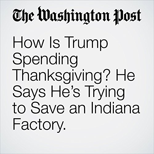 How Is Trump Spending Thanksgiving? He Says He's Trying to Save an Indiana Factory.                   By:                                                                                                                                 Jonathan O'Connell                               Narrated by:                                                                                                                                 Sam Scholl                      Length: 2 mins     Not rated yet     Overall 0.0