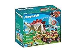 2. PLAYMOBIL Explorer Vehicle with Stegosaurus Building Set