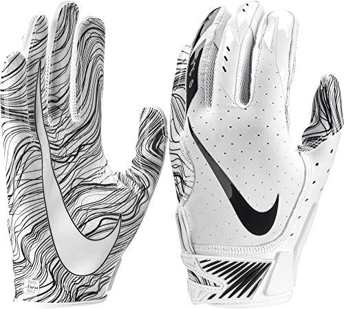 Nike Vapor Jet 5 Herren American Football Handschuhe White/Black - small