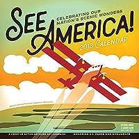 See America! Wall Calendar 2018 [12 x 12 Inches] [並行輸入品]