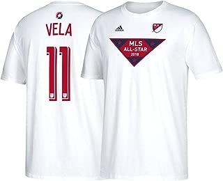 adidas Carlos Vela MLS 2018 MLS All Star Men's N&N Jersey White T-Shirt