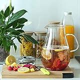 GOLDPOOL 2 Liter 68 Unzen Glas Karaffe Krug mit Deckel und Auslauf, Wasserkaraffe, Eistee Krug, Saft Krug, für hausgemachte Getränke/Eistee/Milch/Kaffee/Wein - 3