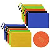 10 Stücke Dokumententasche A5 Reißverschlusstasche Wasserdicht Dokumententasche DIN A5 mit Reißverschluss für Hause Büros Schulbedarf Zubehör Kosmetik und Quittungsspeicher