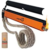 Emergency Fire Starter Kit – Water Resistant Fire Starter Survival Tool, 6 x 1/2' Ferro Rod, Flint and Steel, 36' Hemp Wick – Fire Kit Survival Lighter – Camping Gear, Hiking Gear, Emergency Survival