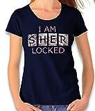 Camiseta vintage para mujer con texto 'I Am Sherlocked', varios colores azul marino XXL