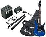 Ibanez IJRG200U-BL Jumpstart pack guitare électrique avec Amplificateur/Casque/Kit d'accessoires, Bleu