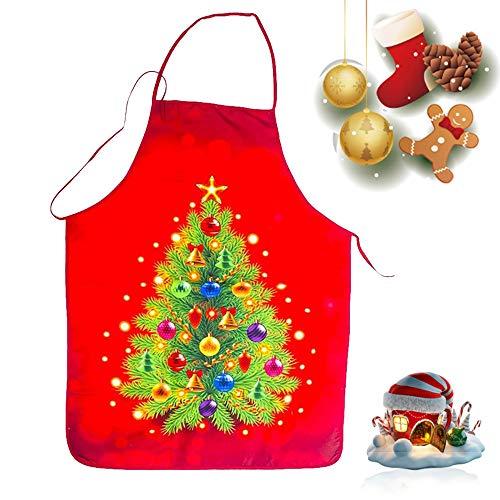 WELLXUNK® Delantal Navidad, Delantales Impresos, Delantal Cocina Adultos, Anime Chef Delantales, Delantal Navidad Cocina Regalo Ideal Navidad, Delantal Fiesta Festiva Decoraciones Navideñas (C)
