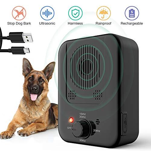 Antibellhalsband, Ultraschall Stopp Hund Rinde Abschreckung, Wasserdicht & Outdoor Rindensteuerung Sicher für Hunde Training im 50 Fuß Bereich