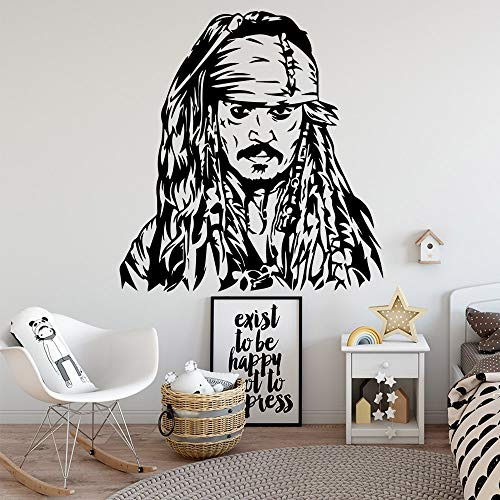 yaonuli Captain Viking entfernbare Wandaufkleber Vinyl Dekoration für Kinderzimmer Wohnzimmer Dekoration Aufkleber Tapete 102x108cm