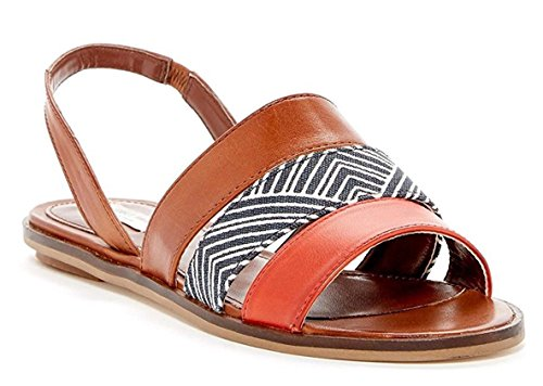 Cole Haan Women's Anisa Sandal Acorn Leather Flat Shoes. (10.5)