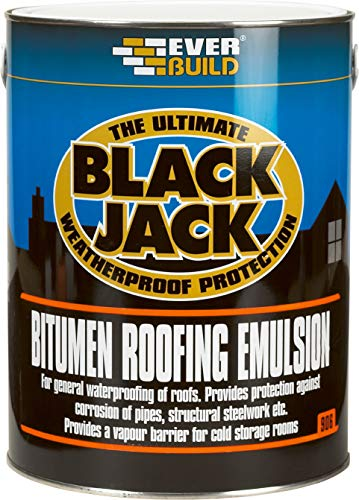 Everbuild 906 Bitumen Roofing Emulsion - Black - 5 Litre