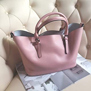 Leather Handbags/Ladies Handbag Large Bag/Messenger Large Bag/Leisure Wild Picture Package. jszzz (Color : Pink)
