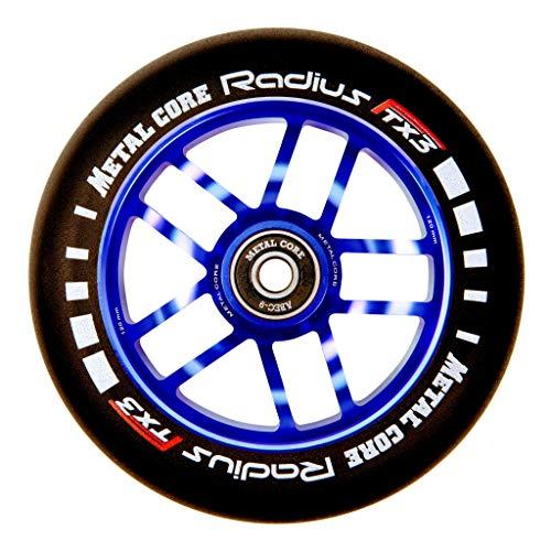 Metal Core Rueda Radius para Scooter Freestyle, Diámetro 120 mm (Azul)