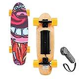 WOOKRAYS 25 Inch Electric Skateboard Standard Skateboard with Wireless Remote Control 7 Layers Maple Waterproof IP54 E-Skateboard, 350W Moter, Maximum Speed 20km/h, Max Load 176lbs