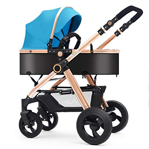 New CDREAM Baby Stroller 4 Wheel High Landscape with Reversible Bassinet Compact Pushchair Suitable ...