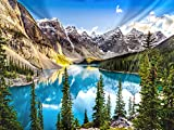 Landscape Sunset View of Moraine Lake & Mountain Range Tapestry Forest Tree Tapestry Tranquil Lake Tapestry Nature Landscape Tapestry Wall Hanging for Room(59.1X78.7 inches)