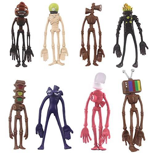 TYFY 8Pcs Siren Head Toys Action Figure,Boys Scary Toys, Horror Monster, Cartoon Animal Figure Horror Model Doll Set, Urban Legend Foundation SCP Toys for Kids Children Birthday Gift