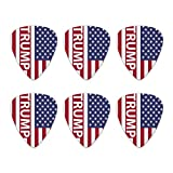 President Trump American Flag Novelty Guitar Picks Medium Gauge - Set of 6