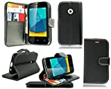 PIXFAB Vodafone Smart First 7 VFD 200 New Black Leather