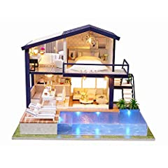 【Beginners Friendly】The illustrated step-by-step instructions are easy to follow, the finished miniature house has lots of good details like the music and light make this mini modern house sweet and romantic.The dust cover is a protector for your fin...