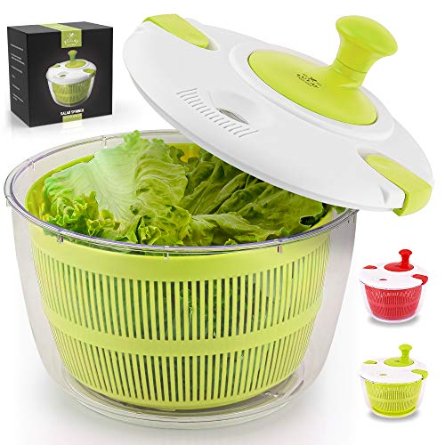 Zulay Kitchen Salad Spinner Large 5L Capacity