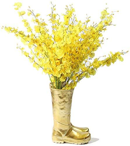 Paragüero - Botas de Lluvia en Forma de Maceta, Cubo de Almacenamiento de Paraguas de Moda para decoración de hogar/Oficina, 36 y 20 Veces 36 cm (Color: Dorado)