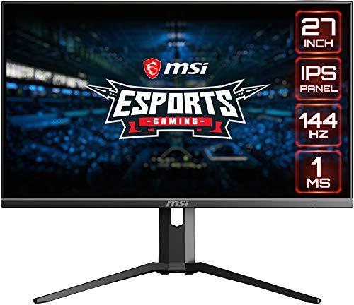 """MSI Full HD Gaming RGB, lunetta ultra stretta 1ms 1920 x 1080 144Hz frequenza di aggiornamento regolabile altezza braccio FreeSync 27"""" IPS Gaming Monitor (Optix MAG273R)"""