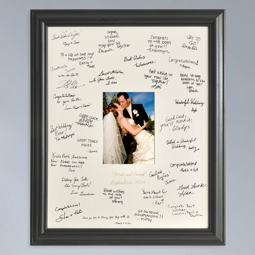 Personalized Wedding Wishes Guestbook Picture Photo Frame - Wedding Guest Book - Signature Frame