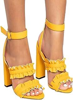 6517d5985c59a Amazon.fr   chaussures à talon jaune sexy   Chaussures et Sacs
