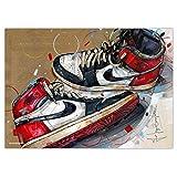 Nike Air Jordan 1 Chicago 1984 'White Laces' Print