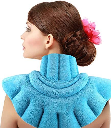 Termoforo Cervicale e Spalle,Cuscino riscaldante per collo e spalle,utilizzabile in microonde,per alleviare il dolore,dolori muscolari, stress,tensione e mal di testa