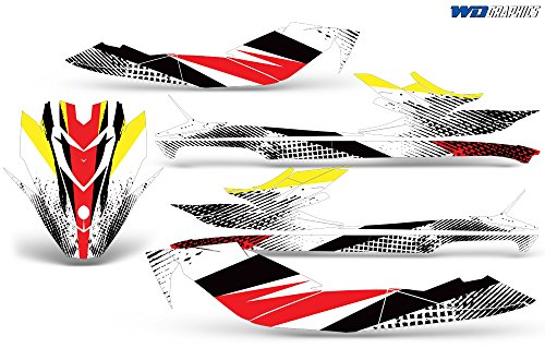 Wholesale Decals Jet Ski Graphics kit Sticker Decal Compatible with Sea-Doo GTI SE130 2011-2019 - Bold Race