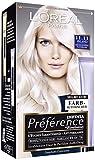 L'Oréal Paris A84404 Preference Coloration Island 11.11 Lot de 3 paquets de 3 boîtes de coloration très lumineuses Blond platine