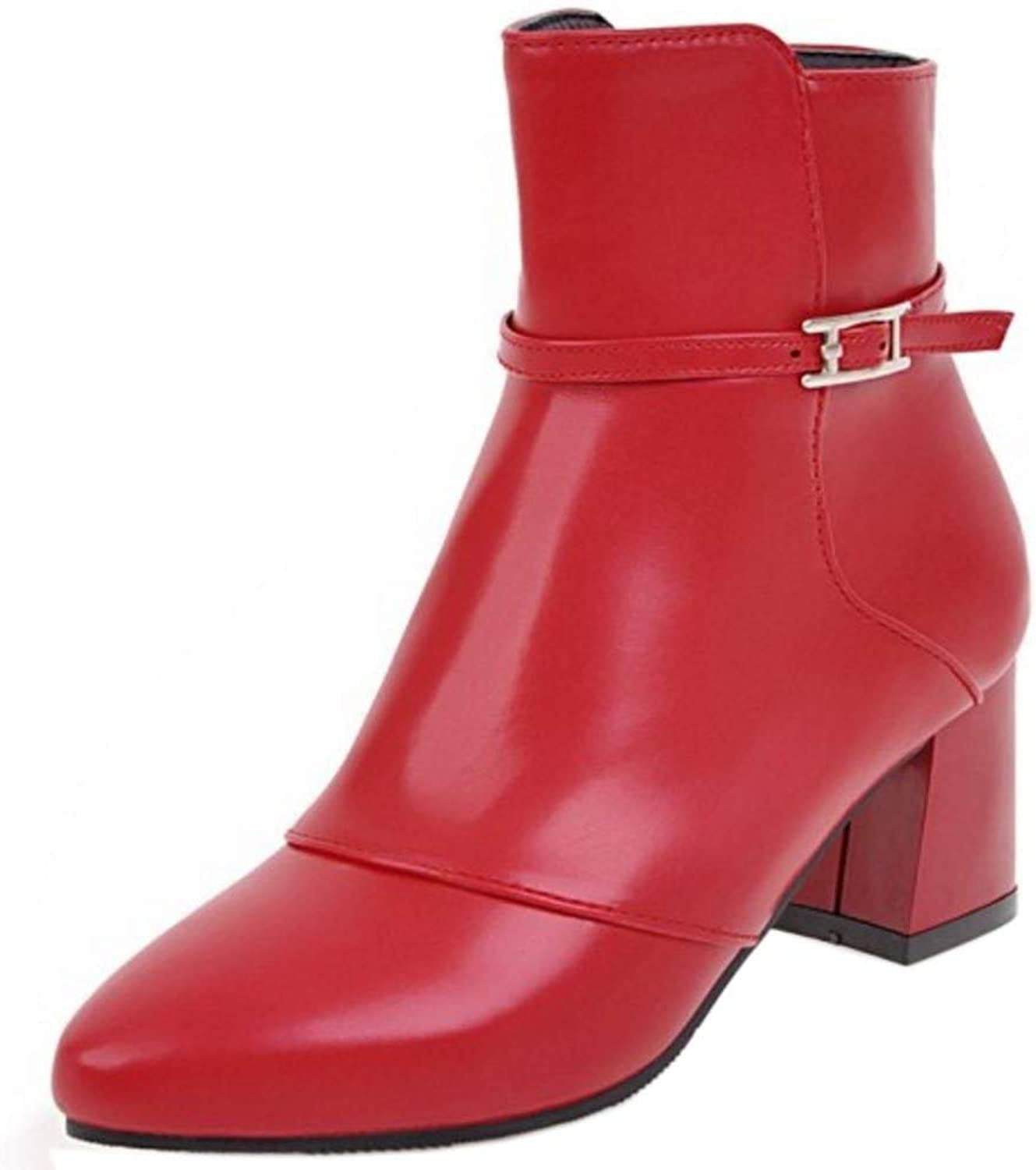 Unm Women's Booties Boots with Zipper