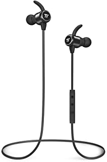 TaoTronics Bluetooth Headphones Wireless Earbuds Bluetooth 4.2 Sweatproof Earphones Magnetic Earbuds Snug Fit for Sports MEMS Mic 6 Hours Playtime