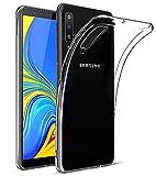 EIISSION Case Kompatibel mit Samsung Galaxy A7 Hülle, A7 2018 Handyhülle Transparent Schutzhülle Kratzfest Silikon Schlank Weich Dünn Durchsichtige TPU Cover für Samsung Galaxy A7 2018,Transparent