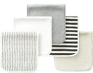 Hello Bunnyo Organic Cotton Burp Cloths 5 Pack Gray