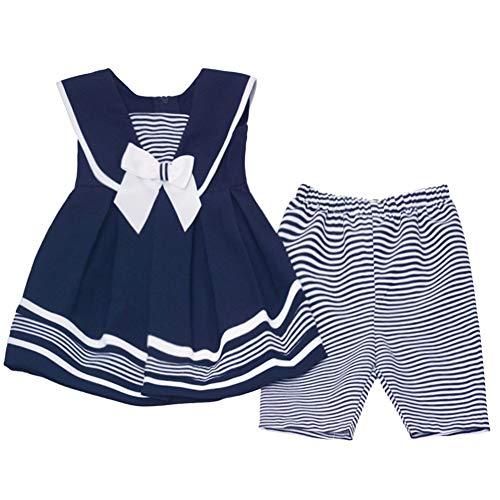 Bonnie Jean Baby Mädchen Matrosenkleid inkl. kurzer Hose Gr. 56,62,68,74,80,86,92,98,104 Größe 68