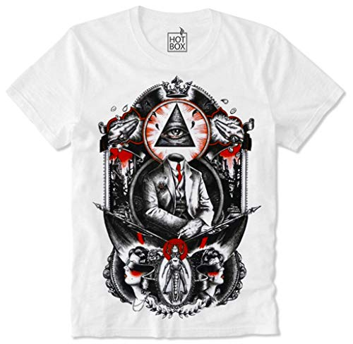 T Shirt Hotbox Illuminati Killuminati Conspiracy Verschwörung Illuminaten Global Dominance Q Anon L