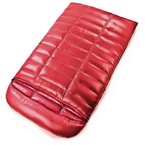 Cushion Saco De Dormir Doble - Tamaño Queen Saco De Dormir Impermeable Bueno, Ligero, para Acampar, Mochilero para Clima Fresco, Senderismo