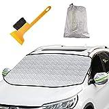 Oziral Protector para Parabrisas Protector de Parabrisas con imán Cubierta de Parabrisas Coche Protege de Hielo Nieve Viento y...