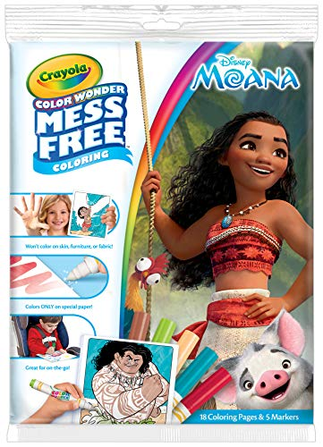 Crayola Color Wonder Moana Coloring Pages, Mess Free Coloring, Gift for Kids, Age 3, 4, 5, 6