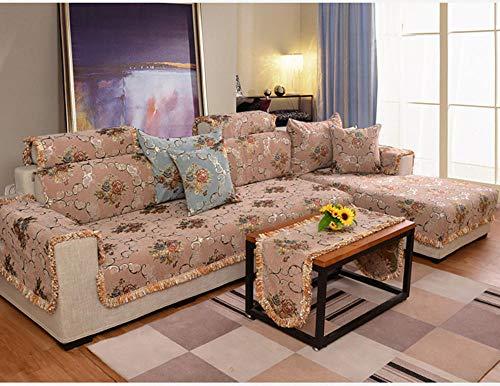 HXTSWGS Funda de sofá seccional Antideslizante, Funda de sofá Acolchada en Forma de L, Funda de sofá para Perros y Mascotas (se Vende por Pieza/no Todo el Juego) -Color café_90 * 240 cm