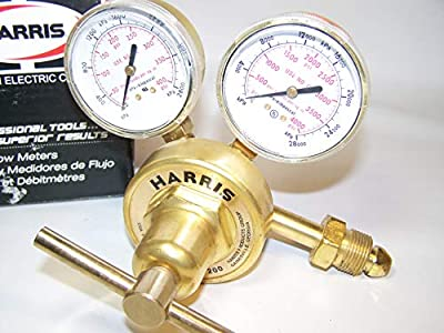 Harris 425-50-580 Pressure Regulator, 0 - 50 PSIG, Brass by Harris Regulator Products