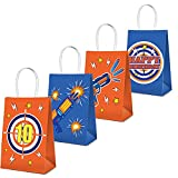 Cracoo Dart War Party Supplies Bags Toy Birthday Wars Party Goody Treat Bags for Cutouts Blaster Gun Party Supplies Dart Battle Decor -16 Pack