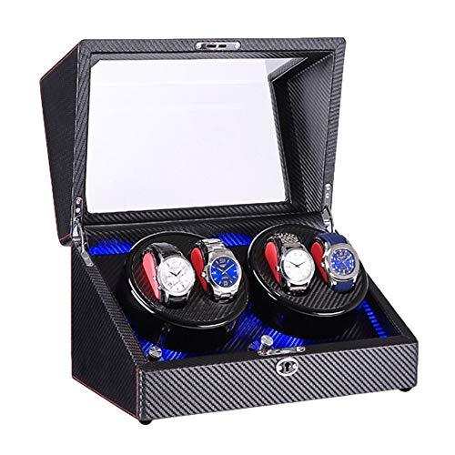 ZNND Caja Enrolladora Automática 4 Luz LED Incorporada Exterior Pintura Piano Negro Fuente Alimentación Dual Motor Silencioso (Color : F)