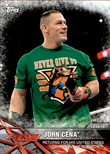 2017 Topps WWE Road to Wrestlemania #4 John Cena Returns for his United States Championship Rematch