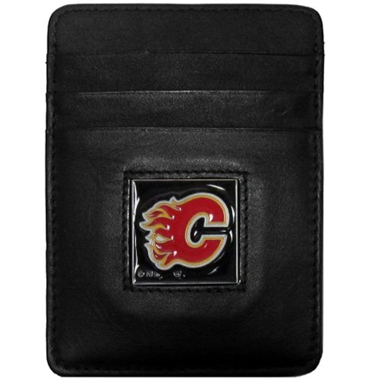 含めるゆるく期待して(Calgary Flames) - NHL Genuine Leather Money Clip/Cardholder Wallet