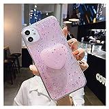 Glqwe Cas de téléphone, Cas de téléphone Glitter Bling étoile Sequin Cover Holder Stand for...